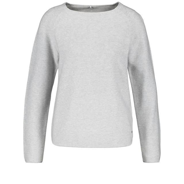 GERRY WEBER Rundhalspullover »Pullover aus reiner Baumwolle«