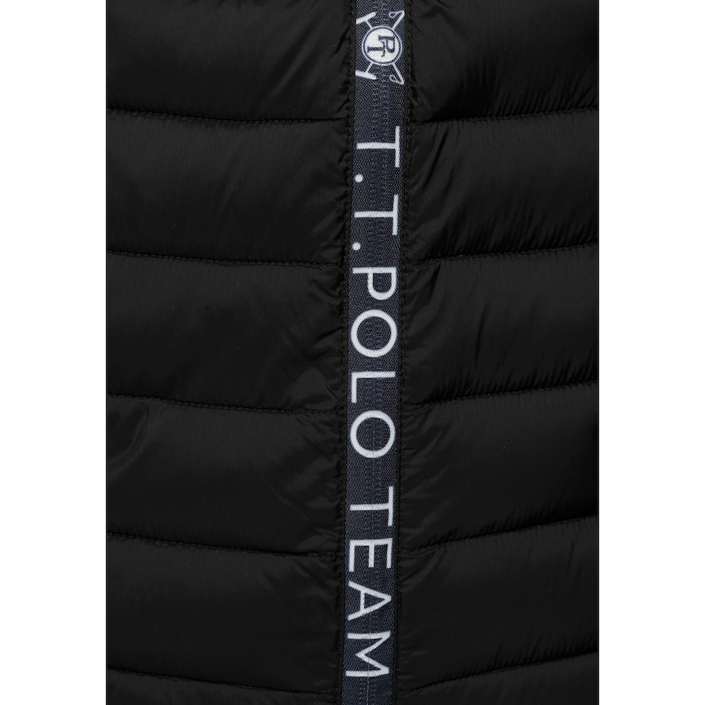 TOM TAILOR Polo Team Steppjacke, mit dekorativem Logo-Reißverschluss - NEUE KOLLEKTION