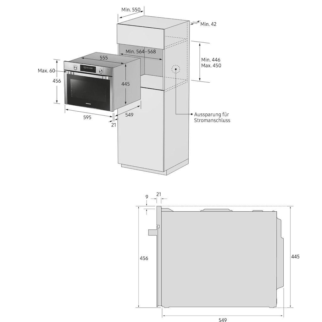 Samsung Backofen mit Mikrowelle »NQ50K3130BS/EG«, NQ50K3130BS