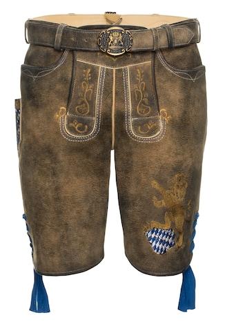 Spieth & Wensky Kurze Lederhose Fayern 45 cm kaufen
