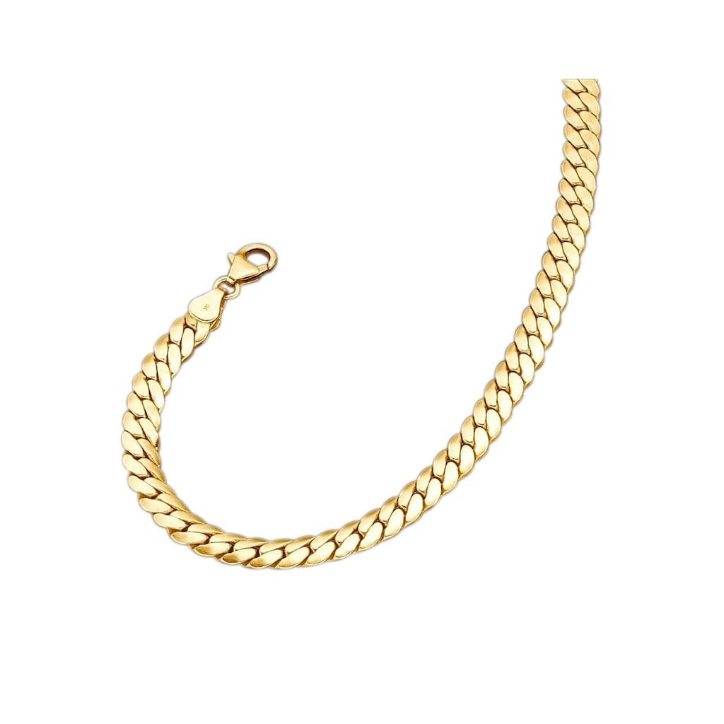 Firetti Goldkette »in Deutschpanzerkettengliederung«, poliert / oval / halbmassiv