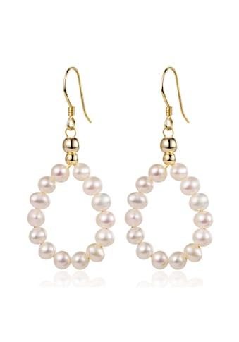 AILORIA Paar Ohrhänger »SHIOMI Ohrringe gold/weiße Perle«, Glänzendes Finish kaufen