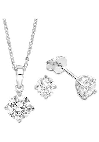 Amor Schmuckset »9964963, Halskette und Ohrringe«, mit Zirkonia kaufen