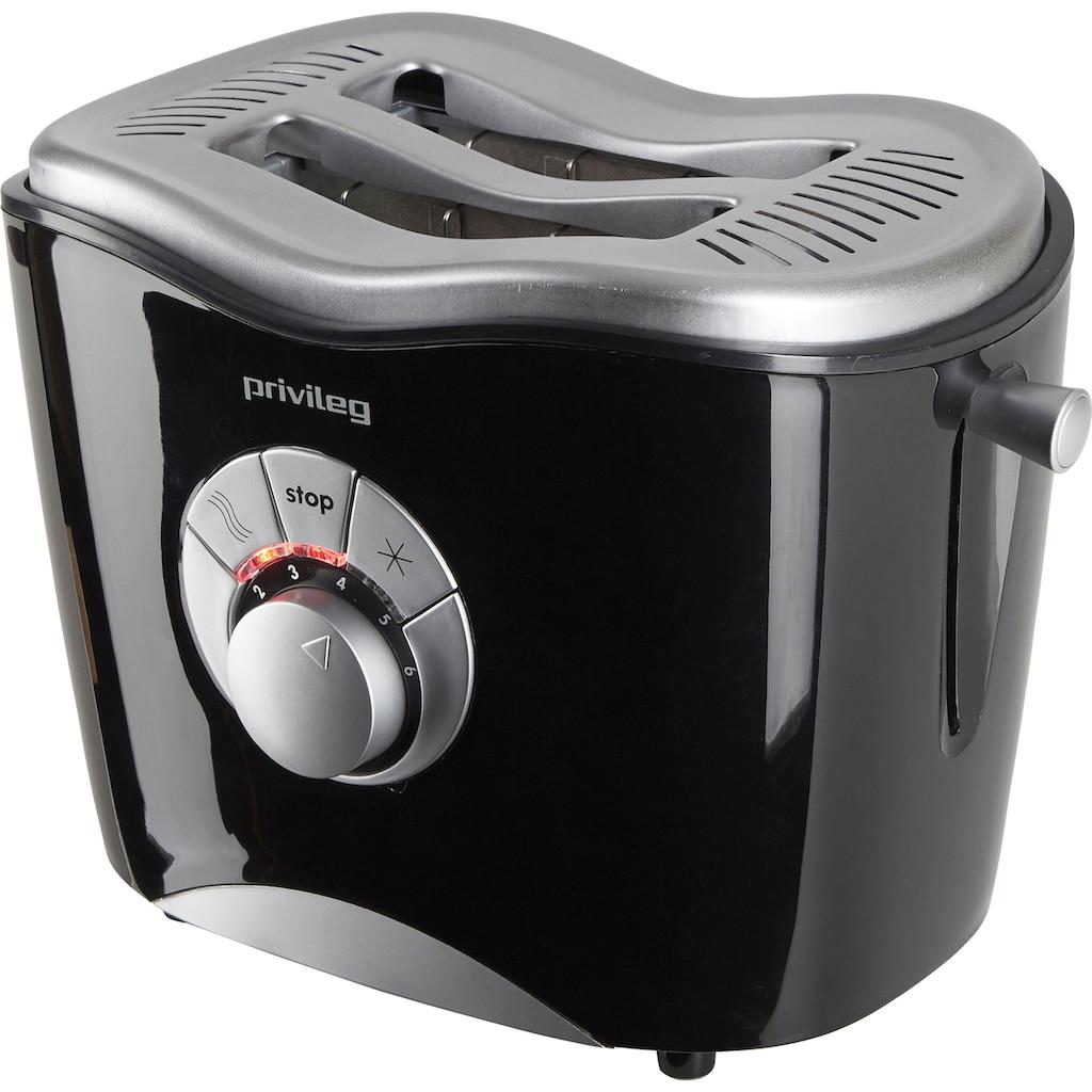 Privileg Toaster »568811«, 2 kurze Schlitze, für 2 Scheiben, 860 W, schwarz