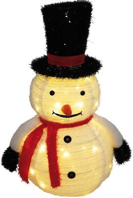 Leucht-Schneemann als Weihnachstdeko für außen