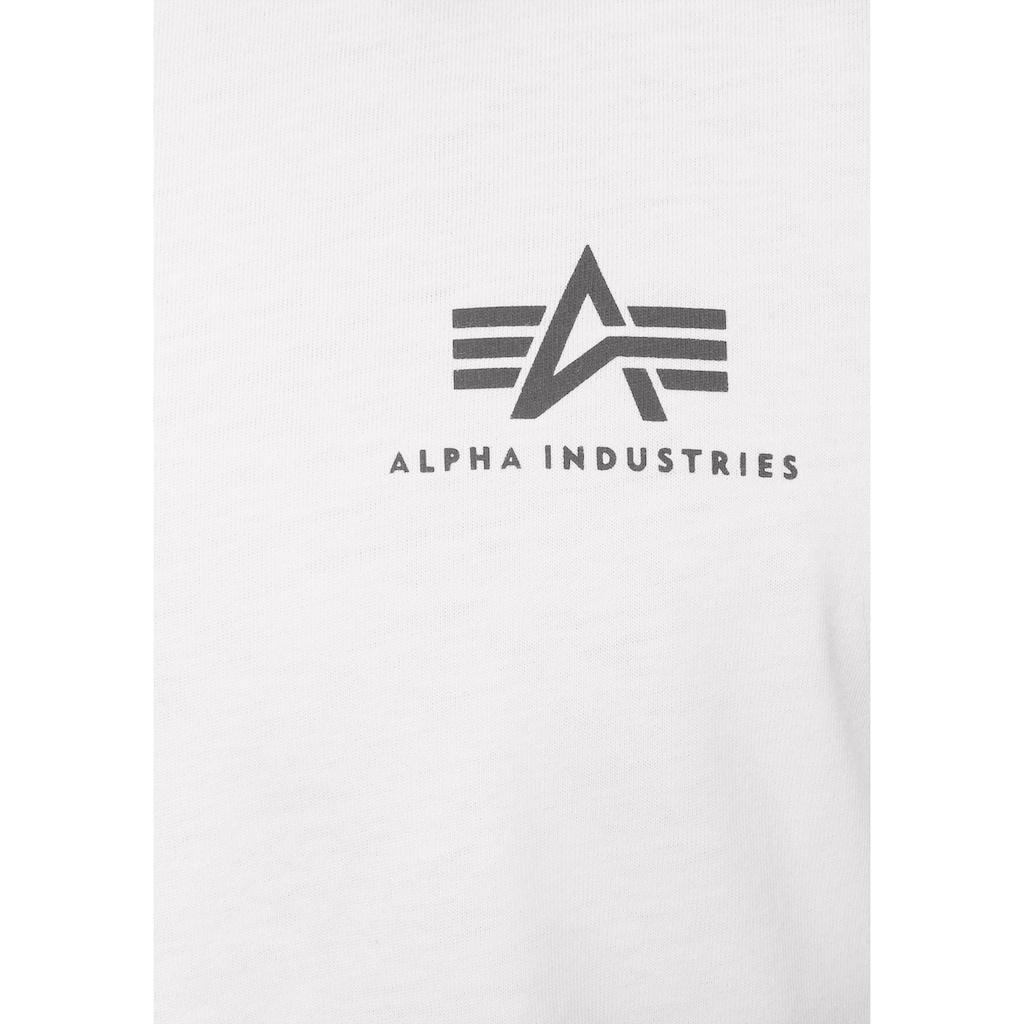 Alpha Industries Rundhalsshirt »BASIC T SMALL LOGO«