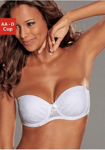LASCANA Push-up-BH »Chelina«, mit Bügel, mit abnehmbaren, normalen und transparenten Trägern kaufen