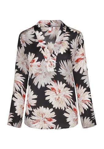 seidensticker Shirtbluse »Schwarze Rose«, Langarm V-Neck Floraler Print kaufen