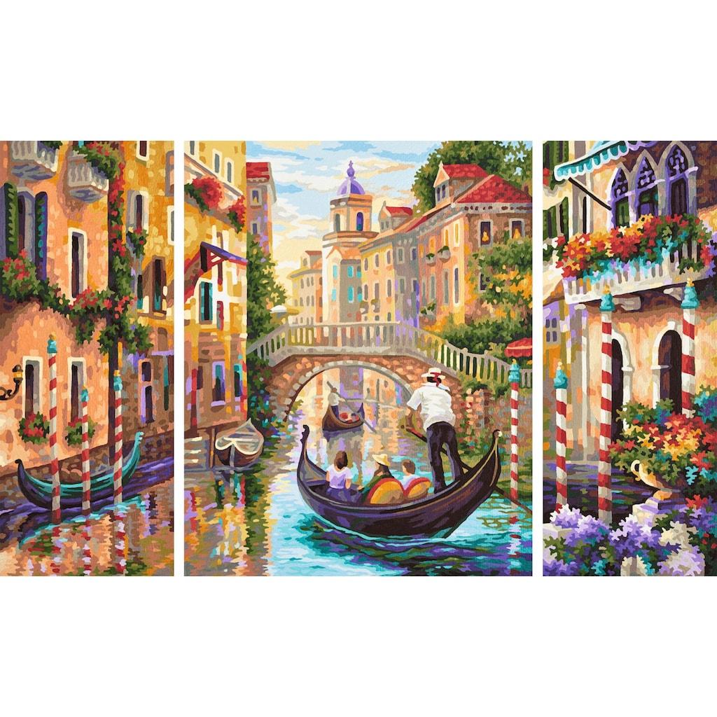 Schipper Malen nach Zahlen »Meisterklasse Triptychon, Venedig - Die Stadt in der Lagune«, Made in Germany