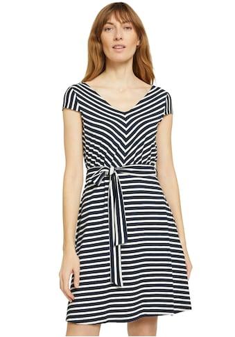 TOM TAILOR Jerseykleid, mit Bindegürtel kaufen