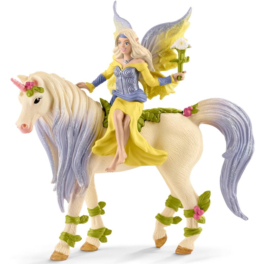 Schleich® Spielfigur »bayala, Sera mit Blüten-Einhorn (70565)«