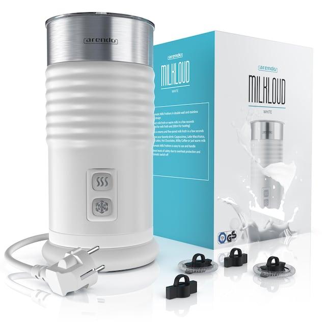 Arendo Milchaufschäumer mit Warm- und Kaltaufschäumen »MILKLOUD White«
