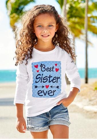 KIDSWORLD Langarmshirt »Best Sister ever« kaufen