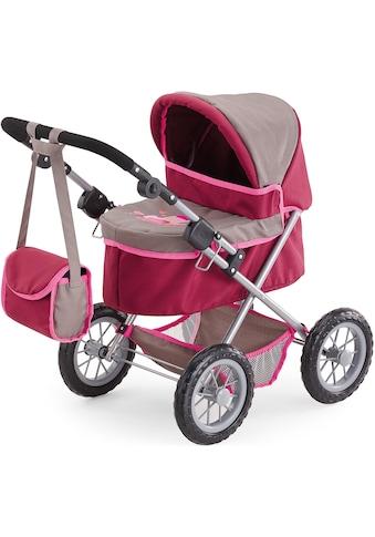 Bayer Puppenwagen »Trendy, rot/braun«, mit Wickeltasche kaufen