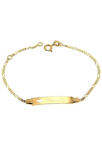 Firetti ID Armband »Figarokettengliederung, 1,5 mm, auf Wunsch mit Gratis - Gravur« kaufen