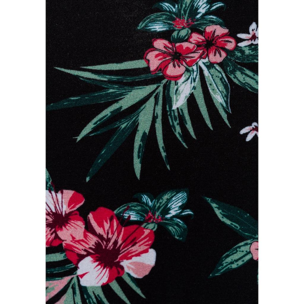 LASCANA Tanktop, (2er-Pack), mit floralem Druck und schönen Ausschnitt-Details