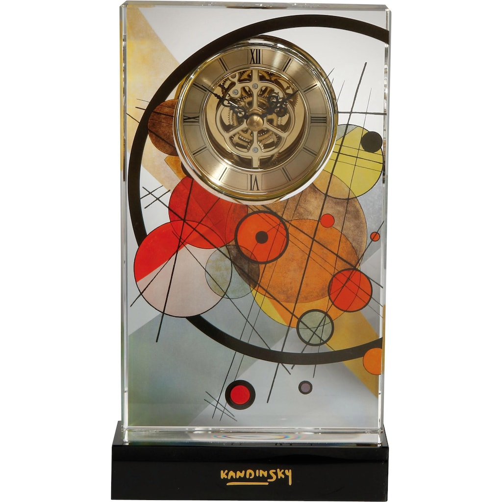 Goebel Tischuhr »Wassily Kandinski, Kreise im Kreis, 67100081«