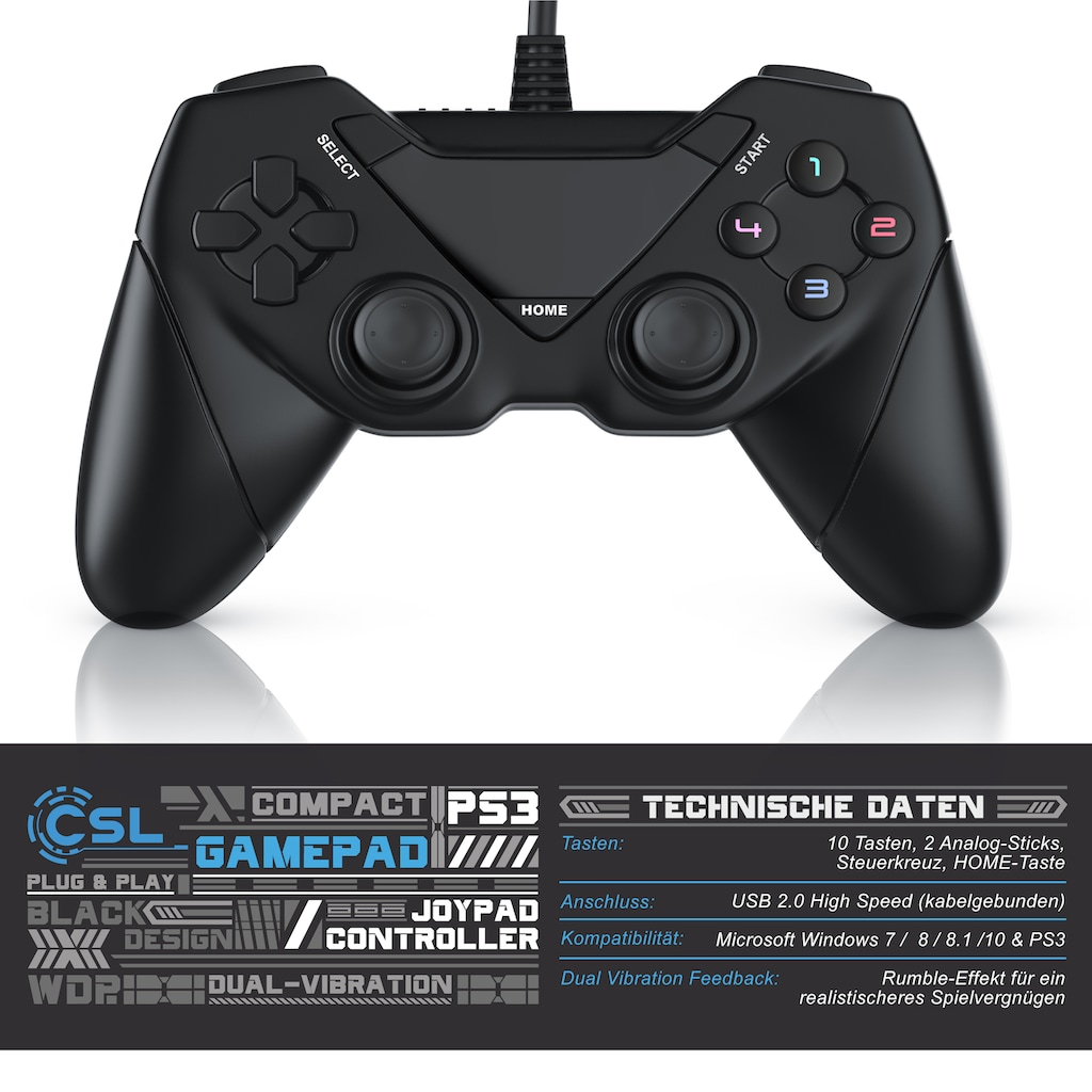 CSL USB Gamepad Controller für Android / PC / PS3