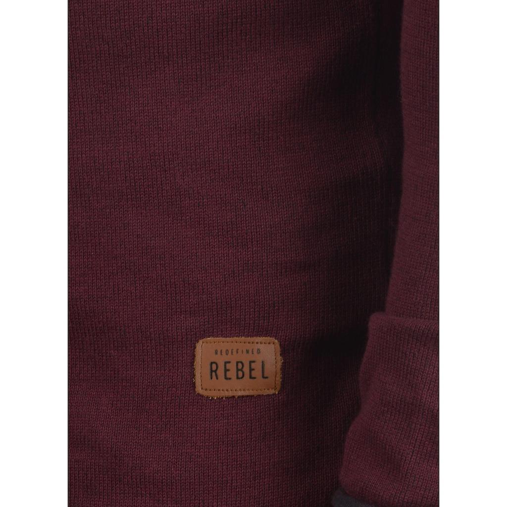 REDEFINED REBEL Cardigan »Maxen«, Strickjacke mit farblich abgesetzten Rollkanten