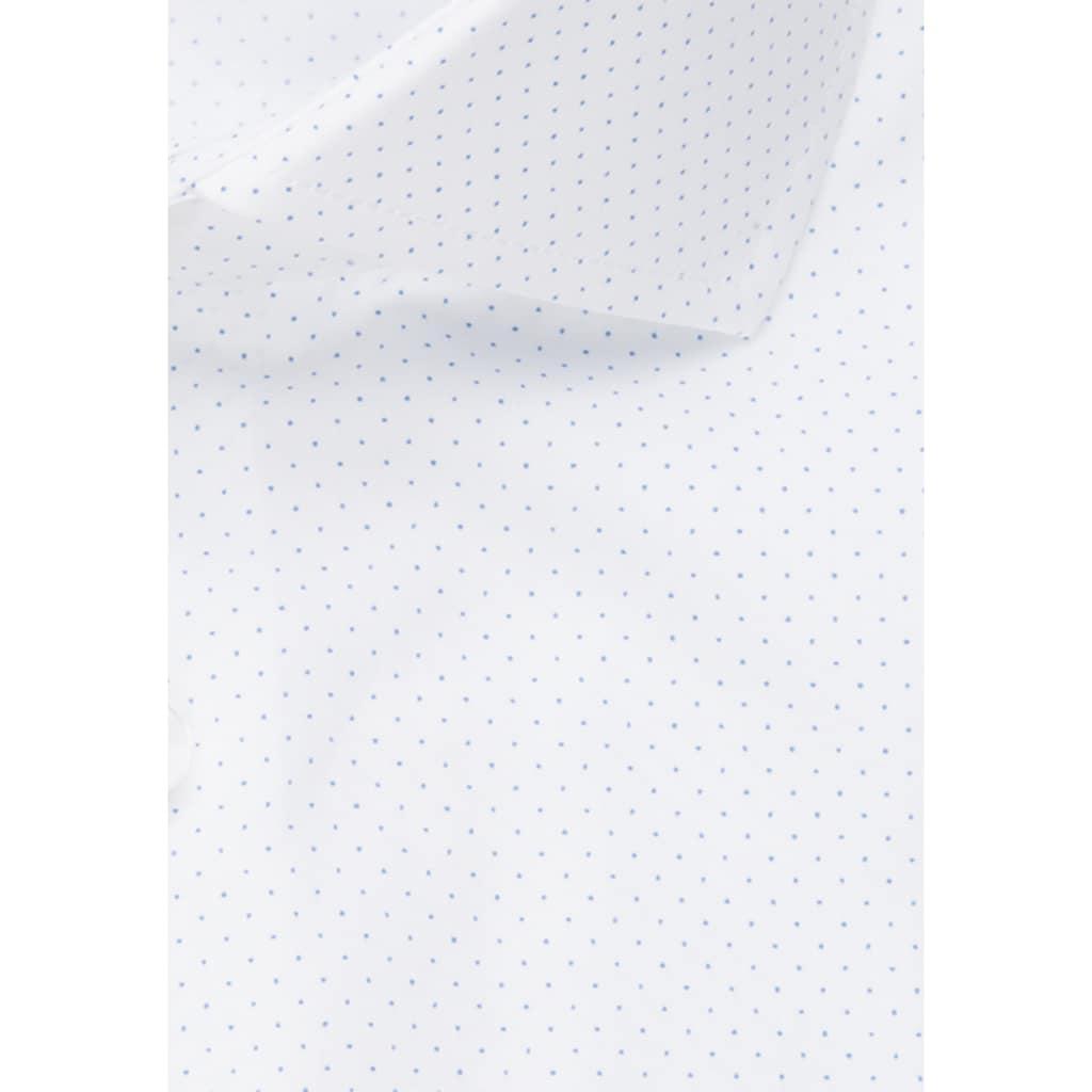 seidensticker Businesshemd »Shaped«, Shaped Kurzarm Kentkragen Punkte