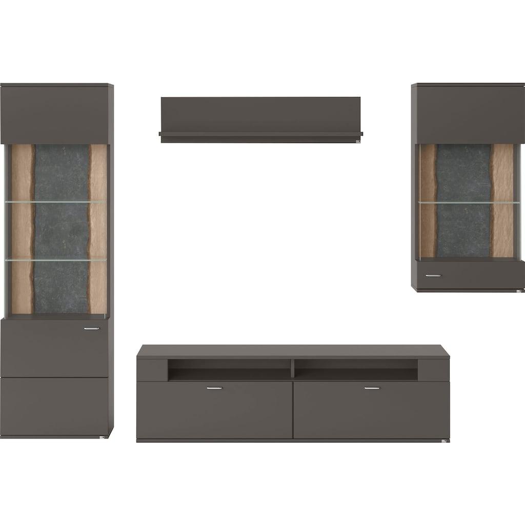 set one by Musterring Wohnwand »TACOMA«, (Set, 4 St.), Typ 04, mit Hängevitrine