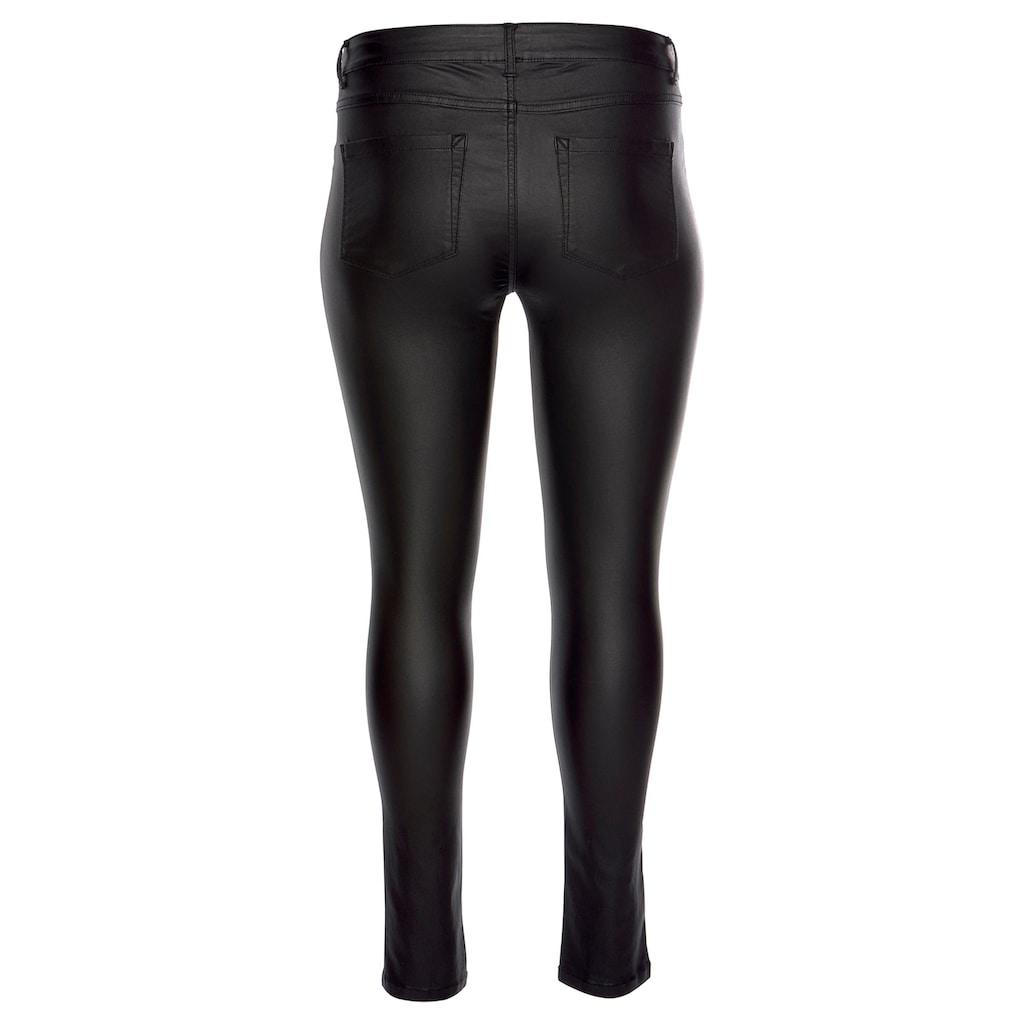 ONLY CARMAKOMA Skinny-fit-Jeans »Punk«, mit edel glänzender Beschichtung