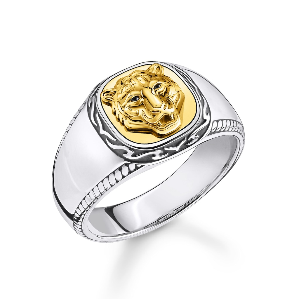 THOMAS SABO Fingerring »Tiger gold, TR2293-849-39-52, 54, 56, 58, 60, 62, 64, 66, 68«, mit Zirkonia