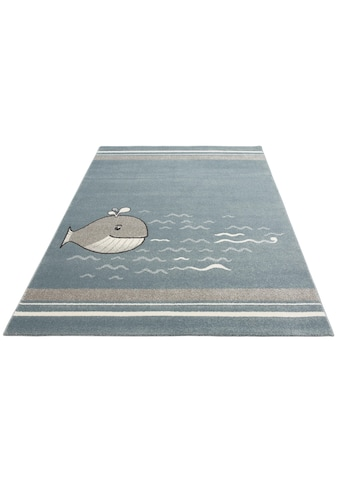 Lüttenhütt Kinderteppich »Whale«, rechteckig, 14 mm Höhe, Motiv Wal kaufen