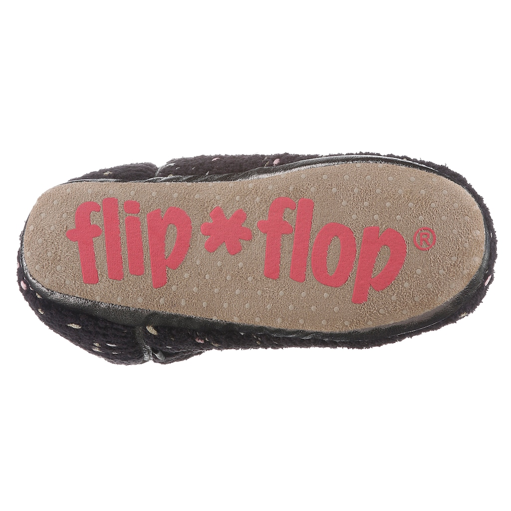 Flip Flop Hüttenschuhe »BONNY«, mit Metallic-Besatz