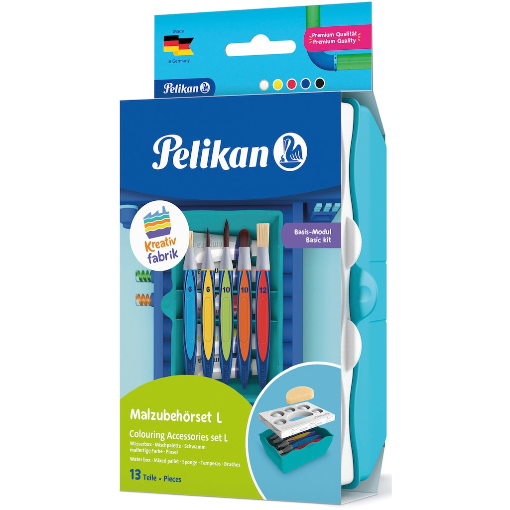 Pelikan Kreativset »Kreativfabrik - Malzubehörset L, Basis-Modul«, Made in Germany