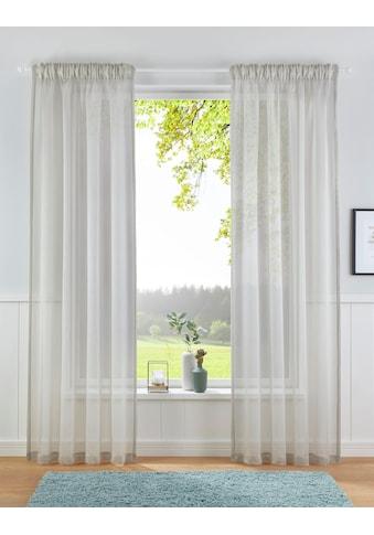 Leonique Gardine »TOVE«, transparent, strukturierte Oberfläche, monochrom kaufen