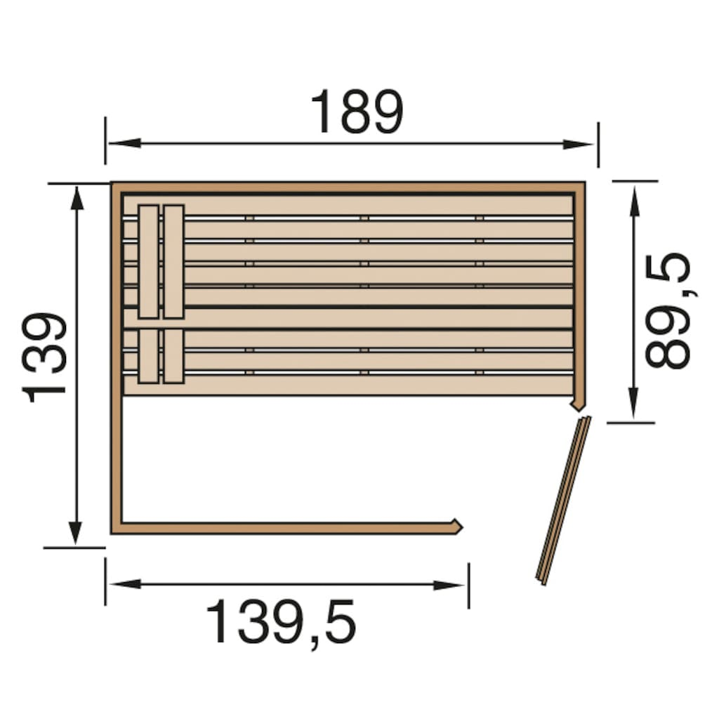 weka Sauna »Valida Eck 1«, 4,5 kW Bio-Kombiofen mit ext. Strg., Fenster