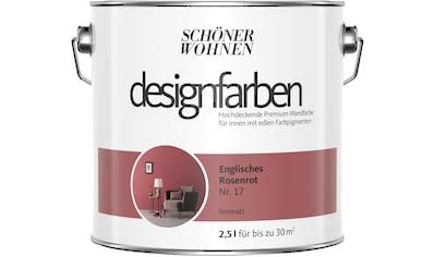 SCHÖNER WOHNEN FARBE Farbe »Designfarben«, Englisches Rosenrot Nr. 17, feinmatt 2,5 l kaufen