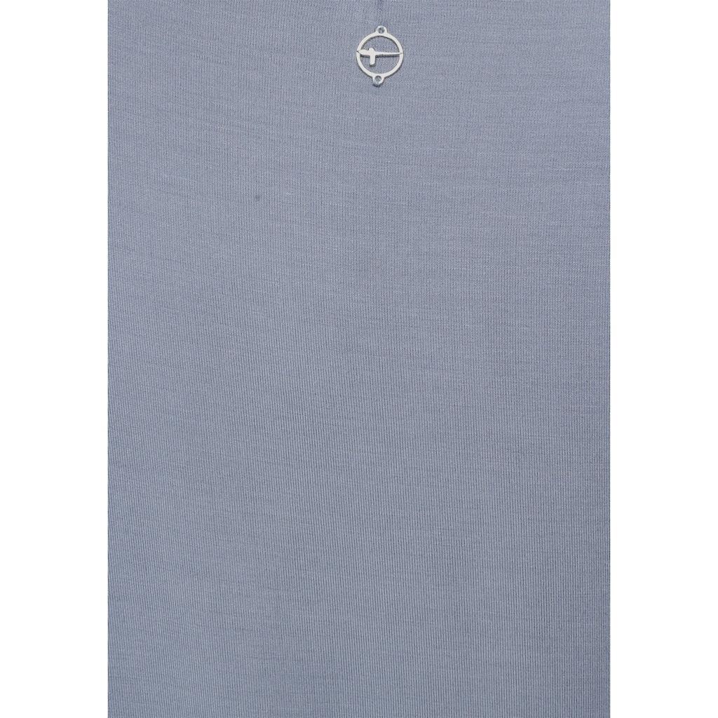 Tamaris Kurzarmshirt, mit Lochdetail am Ausschnitt