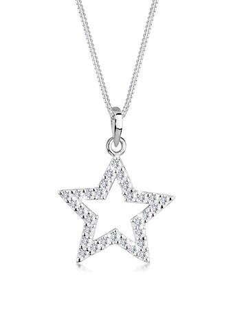 Elli Collierkettchen »Stern Astro Kristalle 925 Silber« kaufen