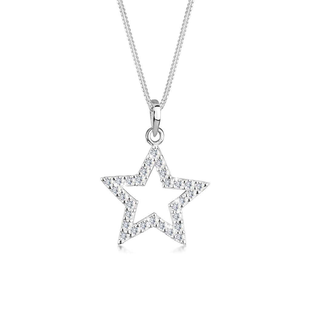 Elli Collierkettchen »Stern Astro Kristalle 925 Silber«