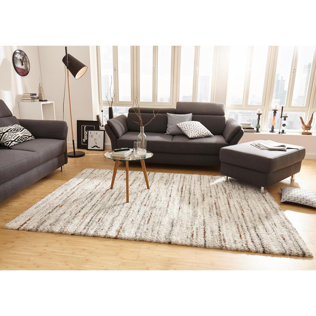 MINT RUGS Hochflor-Teppich »Delight«, rechteckig, 30 mm Höhe, melierter Langflor, Wohnzimmer