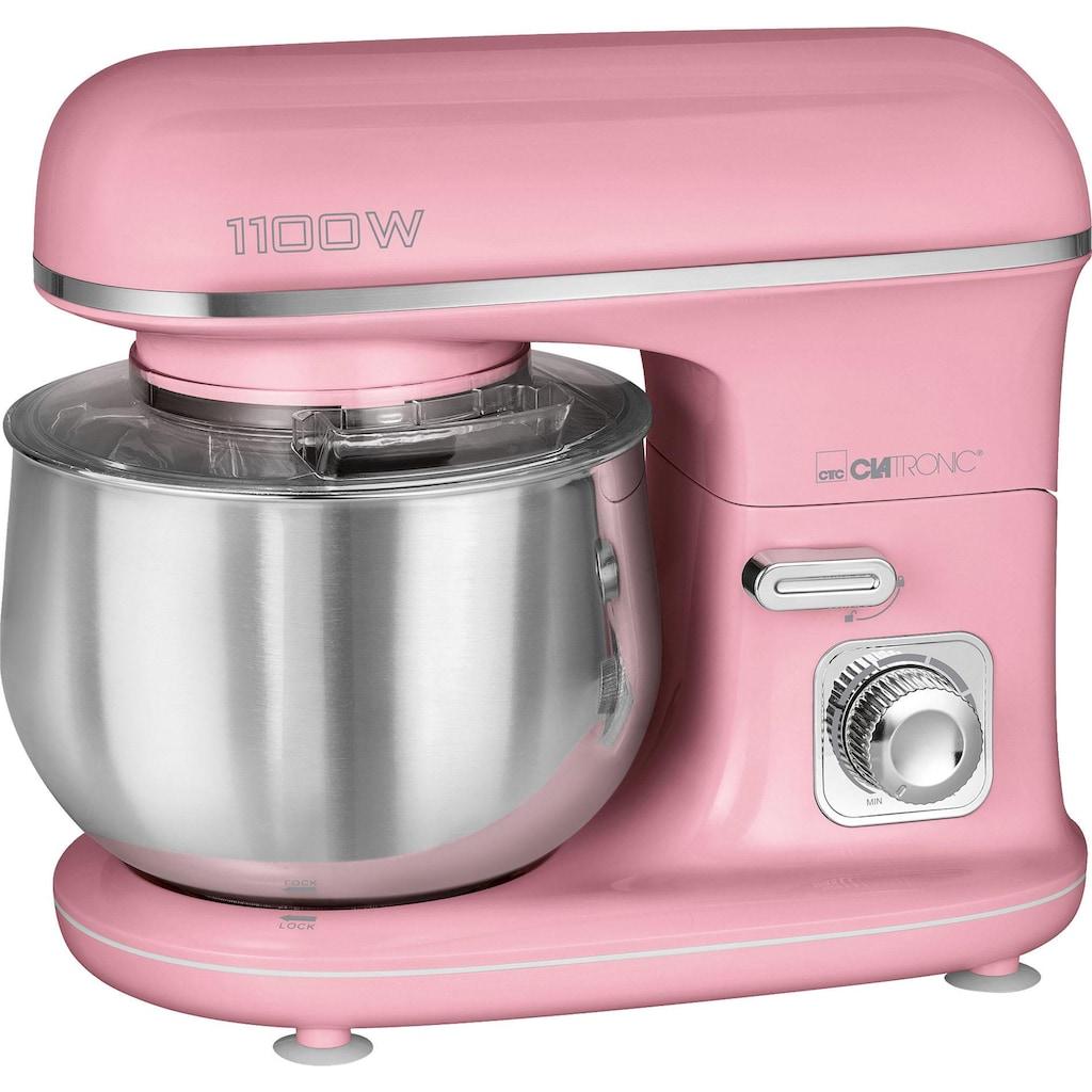 CLATRONIC Küchenmaschine »KM 3711 pink«, 1100 W, 5 l Schüssel