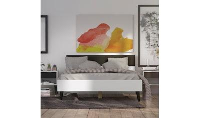 Home affaire Bett »Oslo«, mit massiven Eichenholzbeinen, Zweifarbig, Made in Denmark, in verschiedenen Bettbreiten kaufen