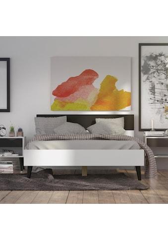 Home affaire Bett »Oslo«, mit massiven Eichenholzbeinen, Zweifarbig, Made in Denmark,... kaufen
