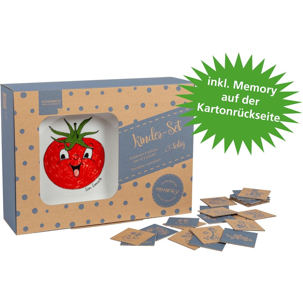 Eschenbach Kindergeschirr-Set »Gesunde Freunde Brokkoli«, (Set, 3 tlg.)