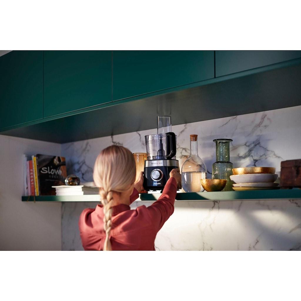 Philips Küchenmaschine »HR7510/10, Viva Collection«, 800 W, 2,1 l Schüssel, 29 Funktionen, 2-in-1 Schneidescheibe, Zitruspressenaufsatz