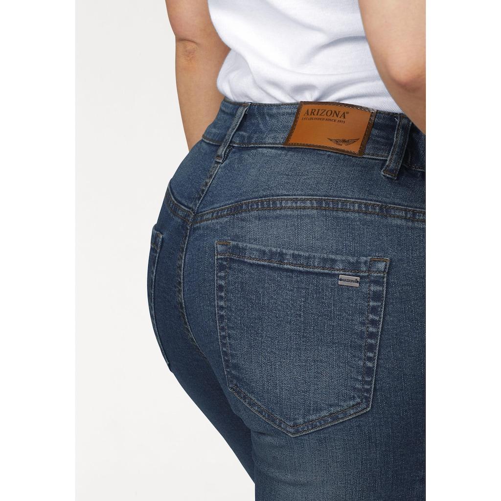 Arizona Slim-fit-Jeans »Svenja - Bund mit seitlichem Gummizugeinsatz«, High Waist