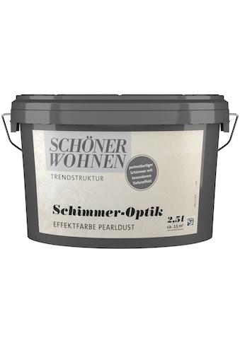SCHÖNER WOHNEN-Kollektion Wandfarbe »Schimmer-Optik Effektfarbe pearldust«, glänzend 2,5 l kaufen