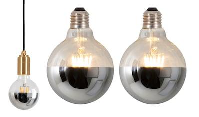 näve LED-Leuchtmittel »Metall«, E27, 2 St., Warmweiß, Set - 2 Stück, dimmbar kaufen