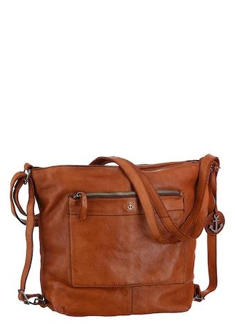 HARBOUR 2nd Cityrucksack »Cayenne«, aus Leder als Rucksack oder als Umhängetasche tragbar kaufen