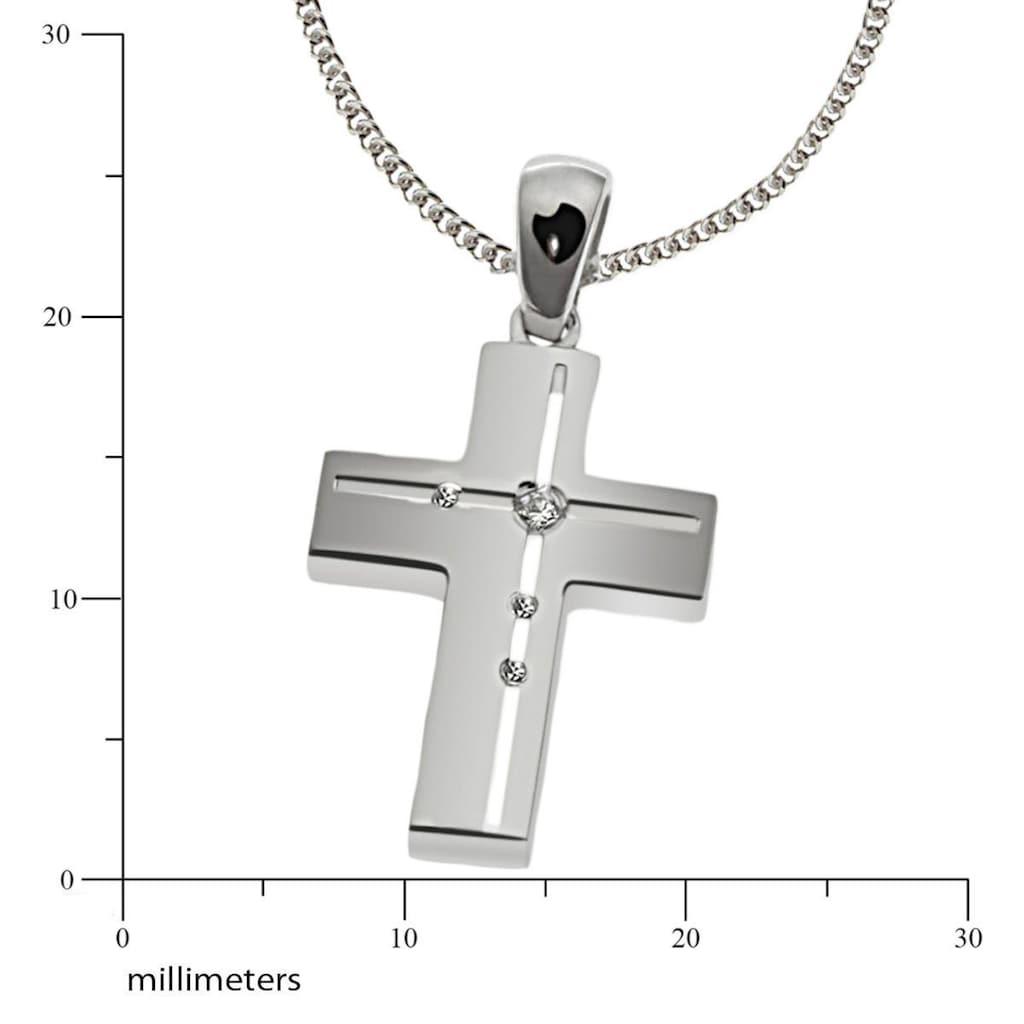 goldmaid Collier Silber 925 klare Zirkonia matt und hochglanzpoliert