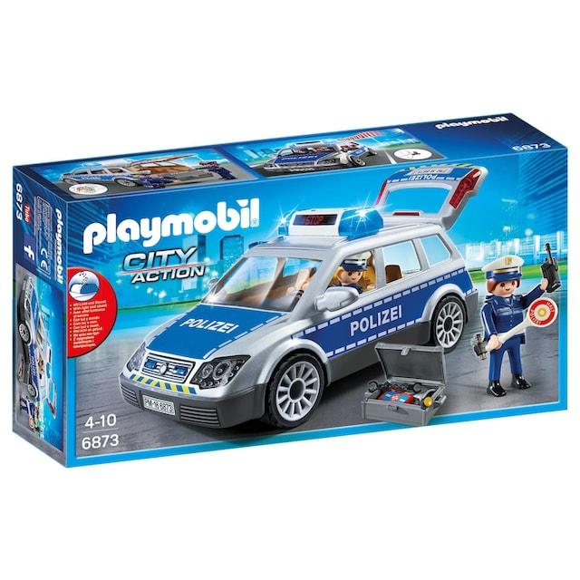 """Playmobil® Konstruktions-Spielset """"Polizei-Einsatzwagen (6873), City Action"""", Kunststoff"""