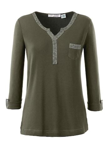 Inspirationen Shirt mit aufgesetztem Glitzerband kaufen