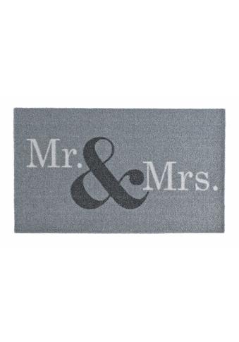 Zala Living Fußmatte »Mr & Mrs«, rechteckig, 7 mm Höhe, Schmutzfangmatte, mit Spruch kaufen